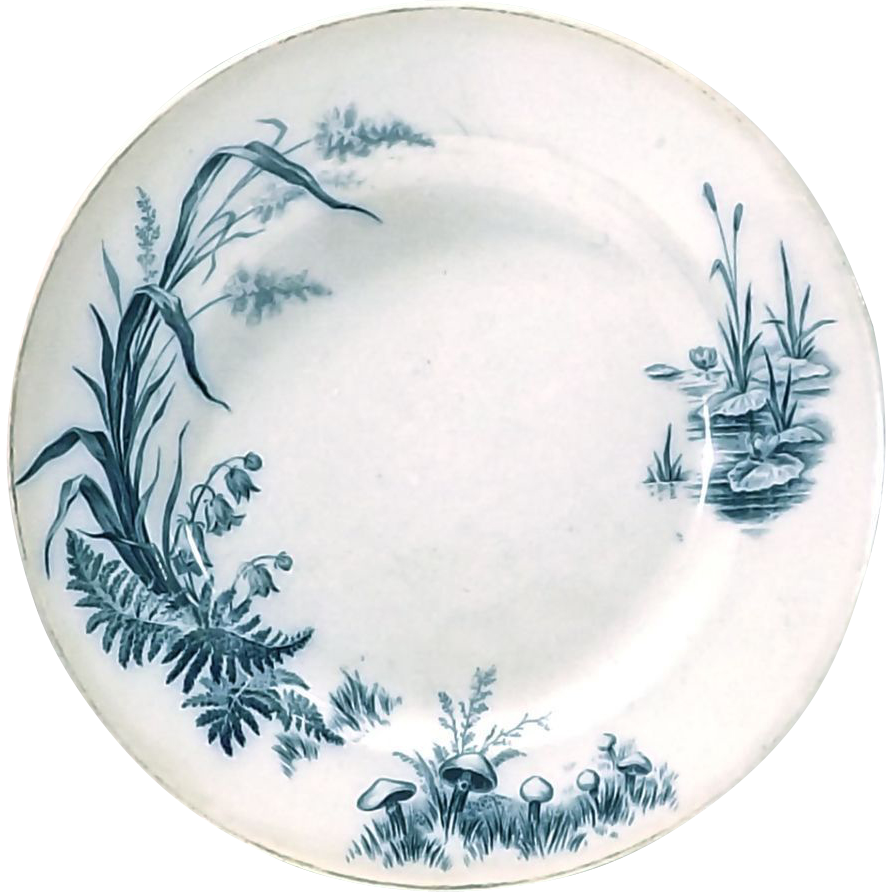 antique villeroy boch pond scene plate from. Black Bedroom Furniture Sets. Home Design Ideas