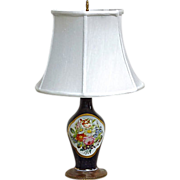 Antique Porcelain Floral Lamp