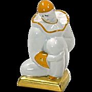 Vintage French Art Deco Porcelain Clown Lamp