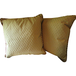 Pillows, Pair, Silk