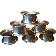 Set of six Sterling Napkin Rings-circa 1900