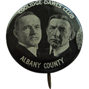 Original Presidential Button - Coolidge & Dawes - 1924