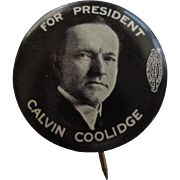 Original Calvin Coolidge Political Button