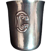 Kalo Sterling Hand Wrought Beaker - Golf Trophy