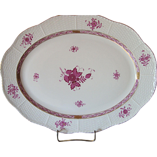 Herend Chinese Bouquet -  Raspberry - Platter 702/AP