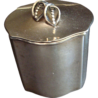 Hand Made Sterling Tea Caddy