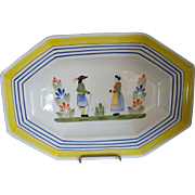 Large Quimper Platter