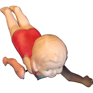 Celluloid Wind-Up Toy Swimmer