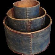 Early American Grain Measures - Set of Three
