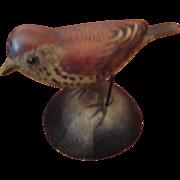 A E Crowell Miniature Bird; Decoy