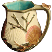 Majolica Ocean/Shell Pitcher - Wedgwood - ON HOLD