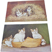 Kittens Advertising Post Cards - Soapine