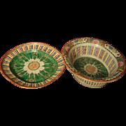 Famille Rose Chinese Export Chestnut Basket