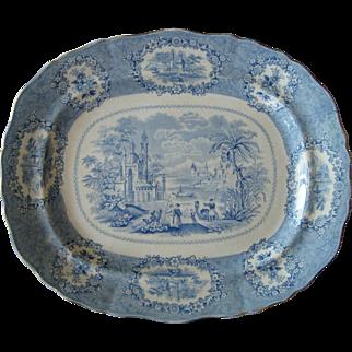 Blue & White Staffordshire Transfer ware Platter