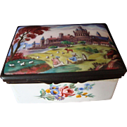18th Century Battersea Enamel Table Snuff Box