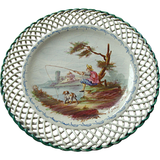 19th Century French Faience - Artist Signed Plate - Lille 1767