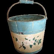 Primitive Swing Handle Child Size Bucket-Paint decorated