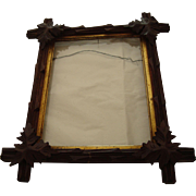 Adirondack Carved Mahogany Frame with Leaves