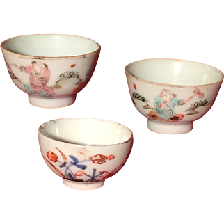 A set of three 18th Century Chinese miniature cups