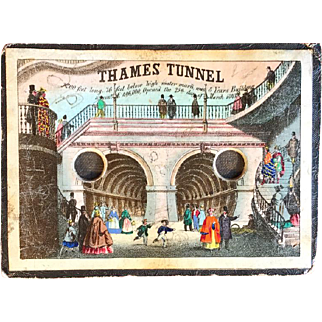 A rare peepshow to commemorate the opening of the Thames Tunnel in London 1843