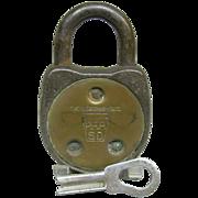 Vintage Yale Pennsylvania Railroad Signal Department Lock with Key