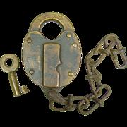 Fraim BCRR Brass Heart Shape RR Switch Lock and Key