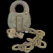 Vintage Miller PRR Pennsylvania Railroad Steel Lock and Key