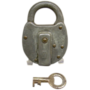 Vintage PRR Signal Dept Lock with Key
