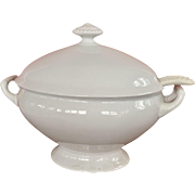 Large Henry Alcock Co. Parisian Porcelain Oval Tureen with Ladle