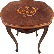 Stunning Louis XV Style Inlaid Marquetry Table