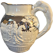 1800 Original Wedgwood Silver Lustre Pitcher