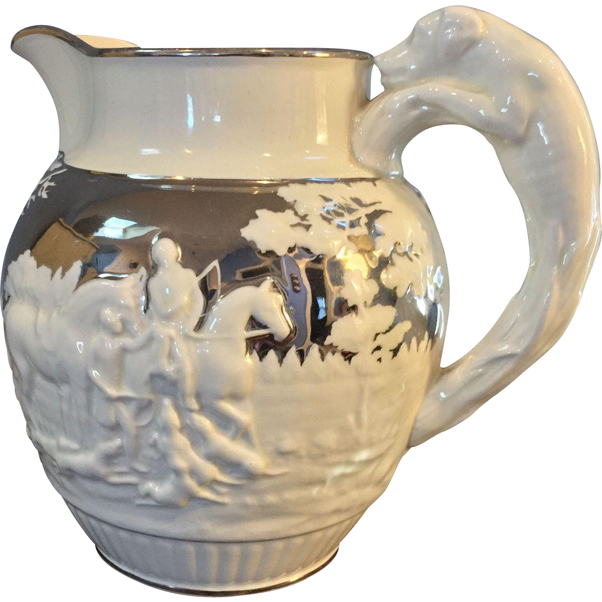 1800 original wedgwood silver lustre pitcher from chappy for Lustre original