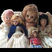 Group of 5 Vintage Composition Dolls- Effanbee, Alexander, German