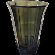 Exceptional Moser Josef Hoffman Wiener Werkstätte Art Deco Faceted Vase C. 1915