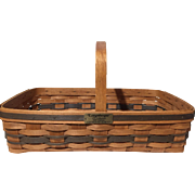 J.W Collection 1988 Edition Longaberger Gathering Basket Signed