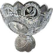 Hofbauer Cut Crystal Footed Compote The Byrdes Collection