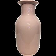 Vintage Tall Soft Pink Italian Vase