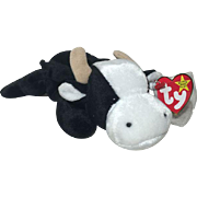 Rare TY Daisy Beanie Baby With Tush Tag & Hang Tag Date Error