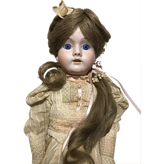 "Kley Hahn Walkure 23"" Bisque Doll 250 Mold Reproduction Bisque Body C. Strain"