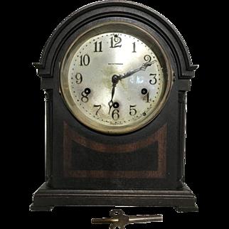 Rare Seth Thomas 8 Day Mantel Clock 124A Mayland Movement Westminster Chime All Original