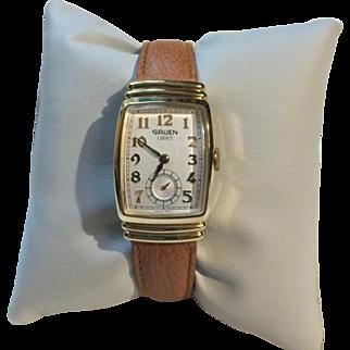 Gruen Art Deco Curvex 10K GF Hooded Lug Watch Never Worn