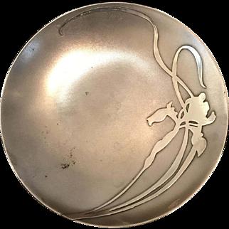 Heintz Art Metal Sterling on Bronze French Grey Card Receiver