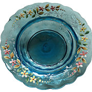 Beautiful Hand Blown Moser Art Glass Dish