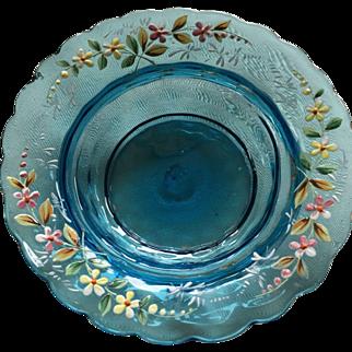 Beautiful Hand Blown Moser Art Glass Dish