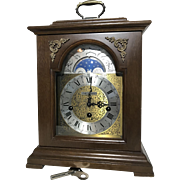 Seth Thomas Moon Dial Bracket Clock Franz Hermle Movement 8-Day Westminster Chime Wharton 1219