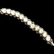 Trifari Signed Alfred Phillipe Dogwood Poured Glass Bracelet