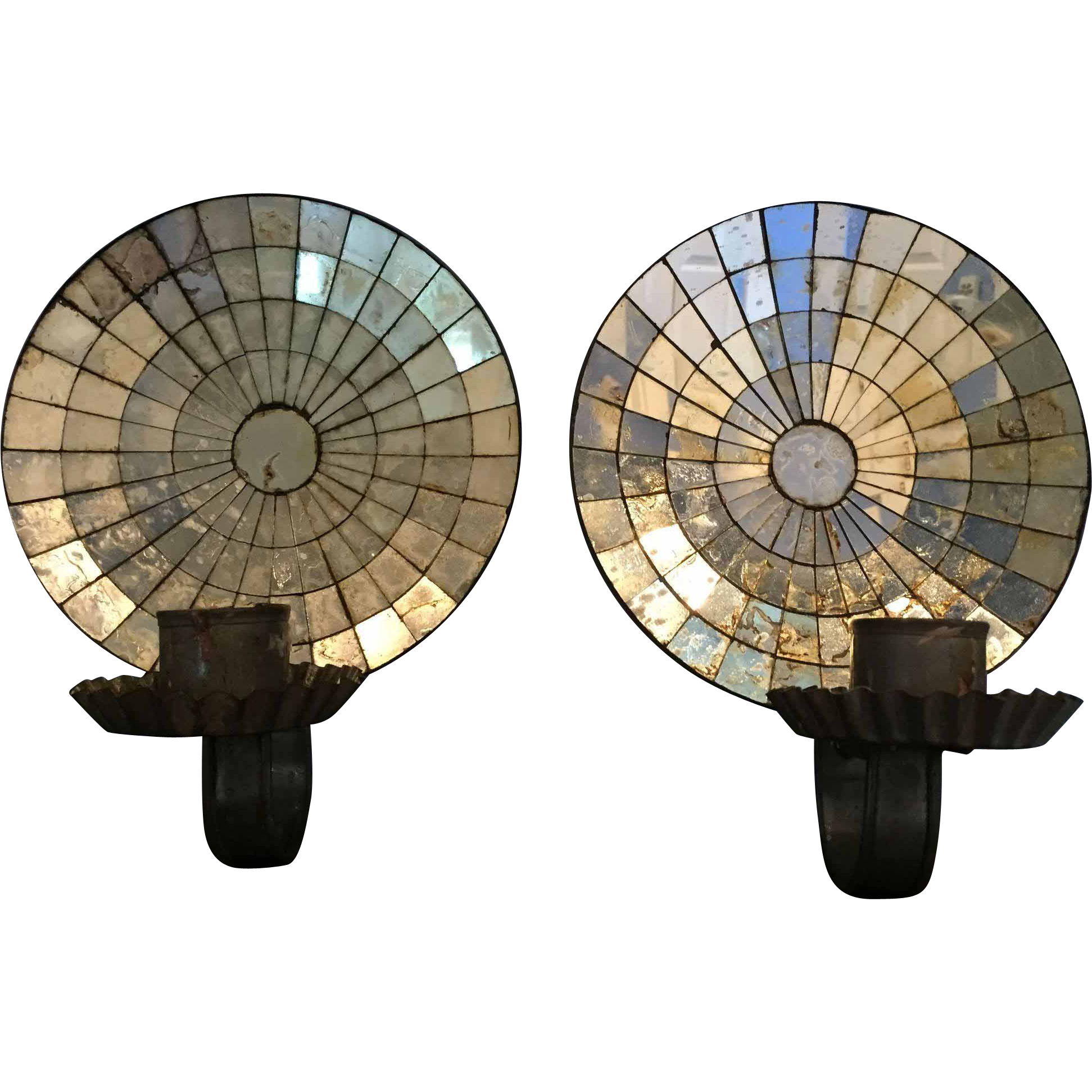 wall ship sconce of at mirrored pair back sconces