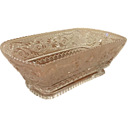 Rare Duncan Miller Sandwich Glass Rectangle Basket Serving Dish