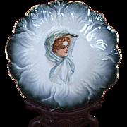 Stunning Victorian Portrait Plate