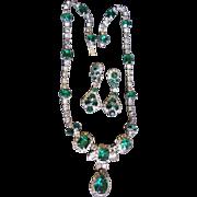 Kramer of NY Simulated Emerald Set